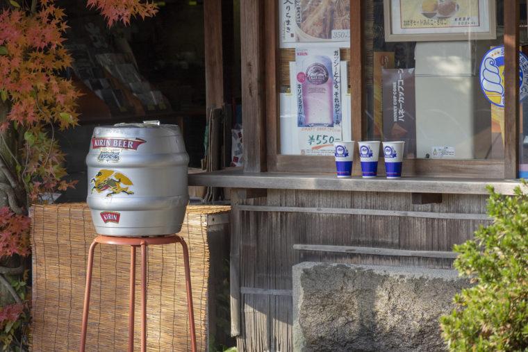 皐月亭の生ビール