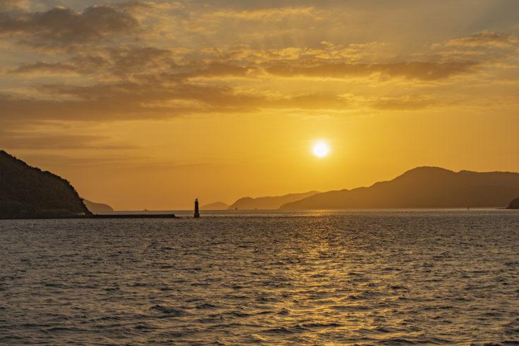 本島の夕焼け2