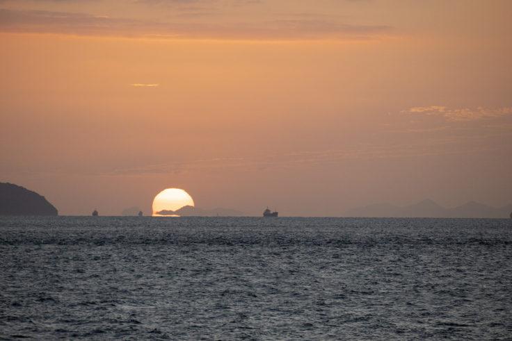 瀬戸内海の夕焼け
