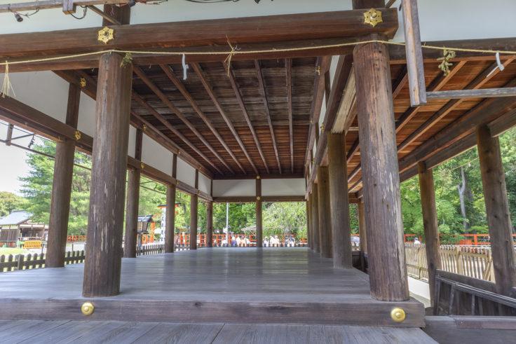 上賀茂神社馬場殿内部