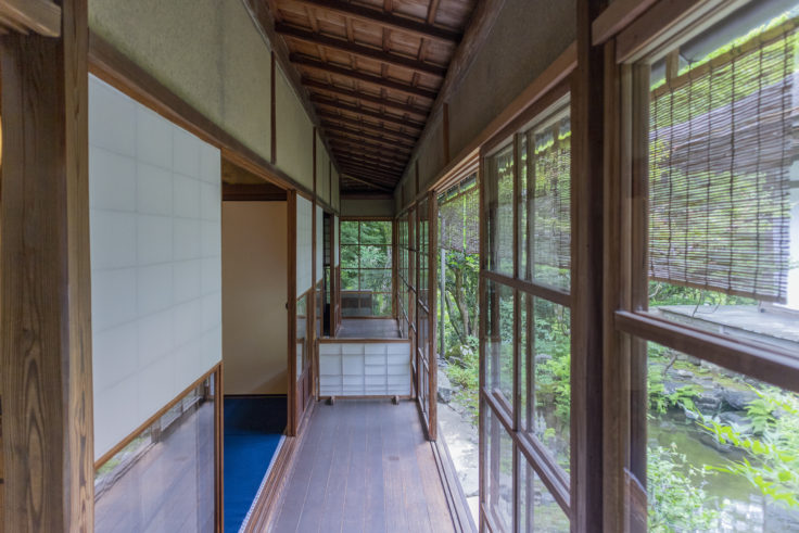 高山寺書院茶室の廊下