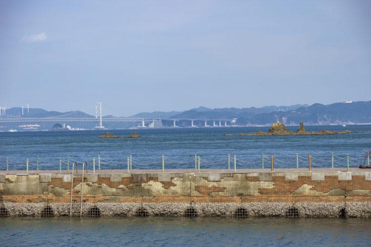 岡崎海岸の突堤