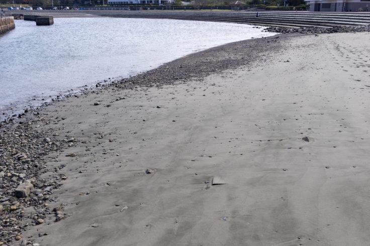 岡崎海岸の砂浜