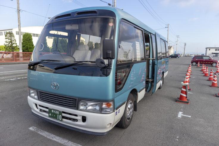 須田港への無料シャトルバス