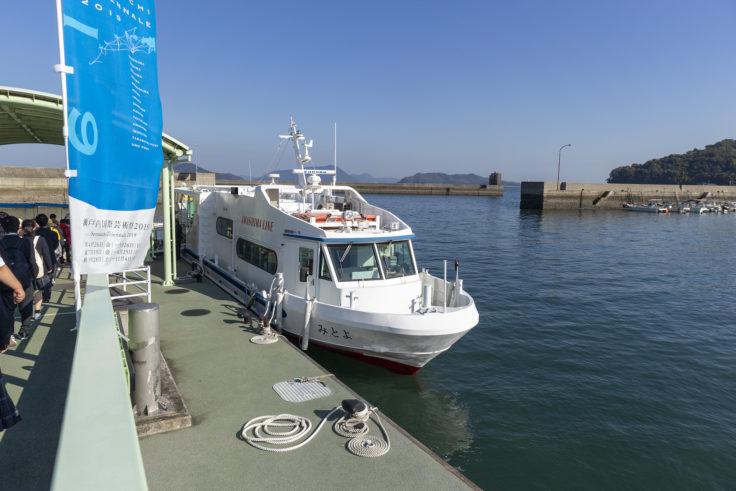 粟島への高速船