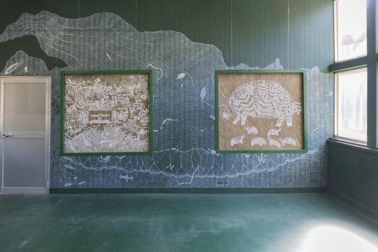 「文化の糸ワルリ画」マユール・ワイェダ