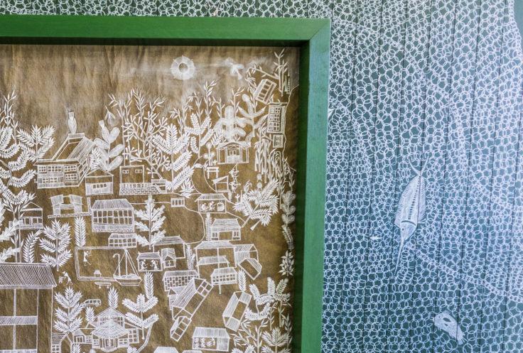 「文化の糸ワルリ画」マユール・ワイェダ3