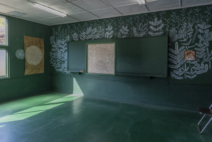 「文化の糸ワルリ画」マユール・ワイェダ2