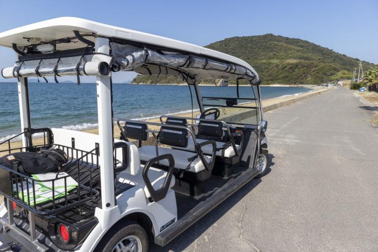 粟島の電気自動車