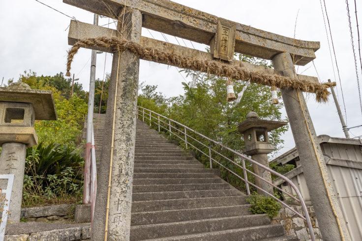 皇子神社の鳥居