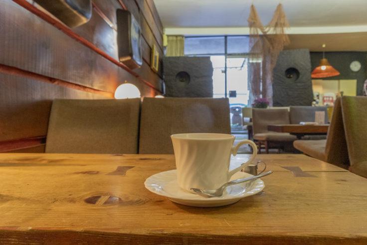 城の眼のコーヒー