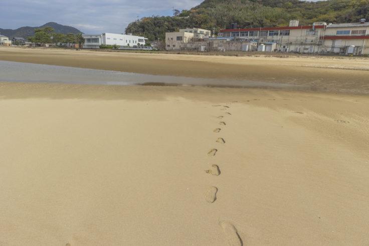 父母ヶ浜の足跡