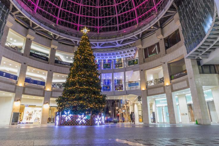 高松中央商店街の巨大クリスマスツリー2