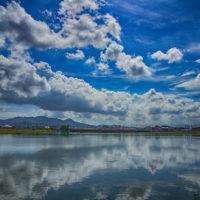 雲のリフレクション