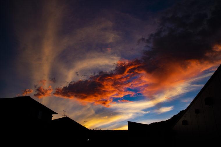 高松市で見た夕焼け2