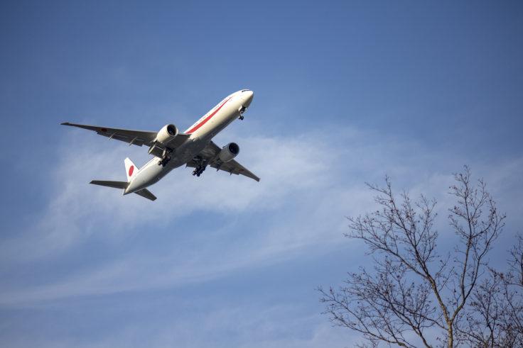 千歳空港離着陸の飛行機