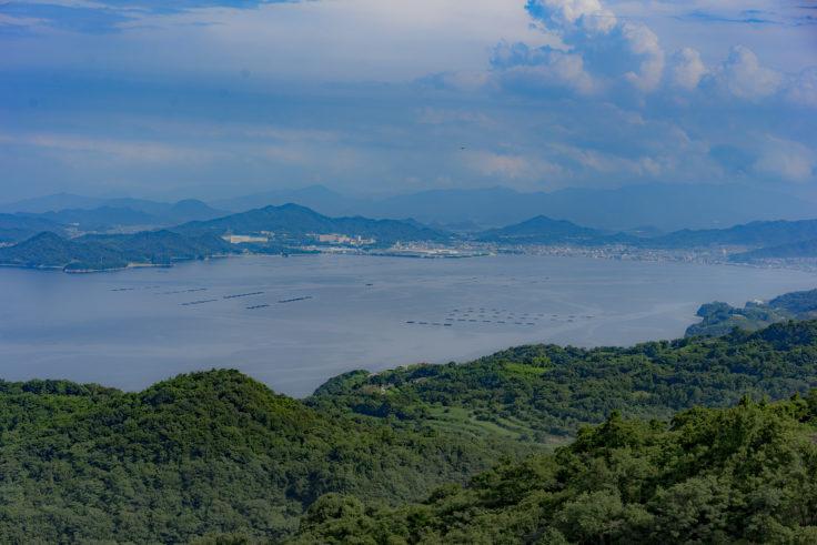 あじ竜王山公園からの眺め