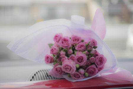フラワーファクトリーききょうやさんのミニバラ花束