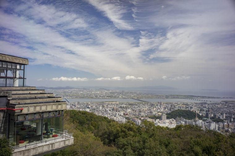 眉山公園パゴダ平和記念塔からの眺め