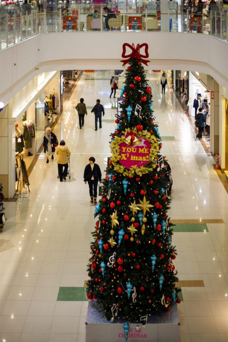 ゆめタウン徳島店のクリスマスツリー