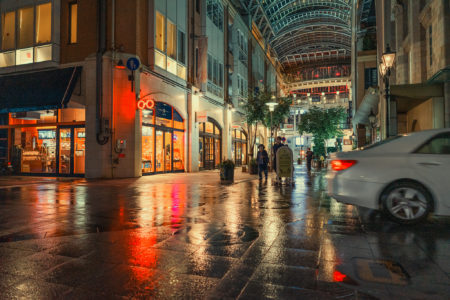 雨の商店街4
