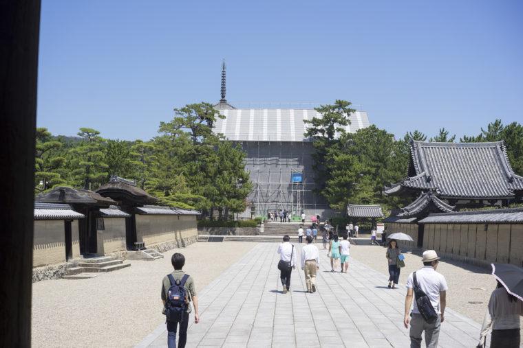 法隆寺中門修復