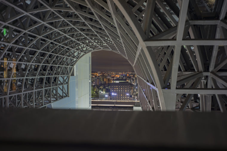 京都駅ビルからの夜景