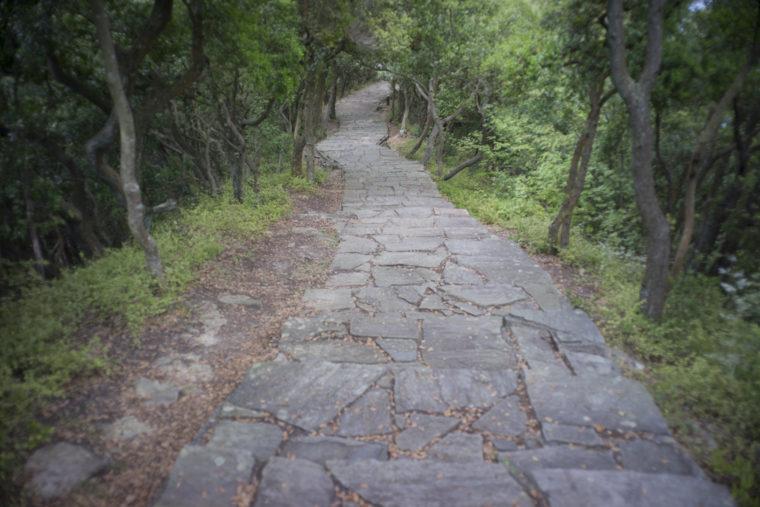屋島北嶺遊鶴亭までの最後の階段