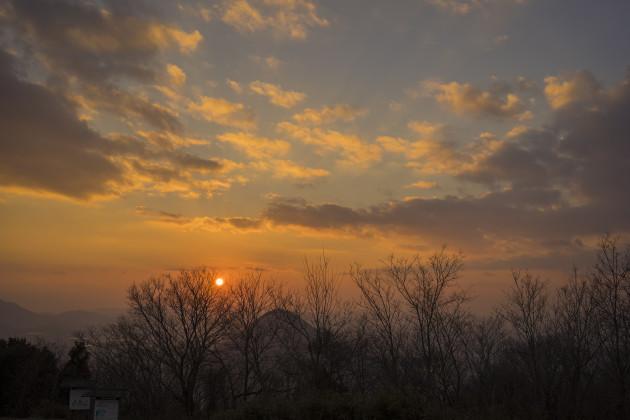 城山から見た飯野山