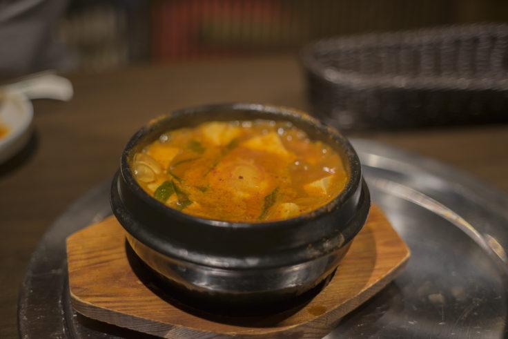 韓国料理双六の豆腐チゲ