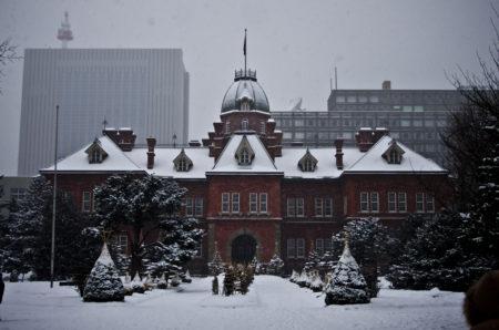 北海道庁旧本庁舎にて